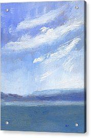 The Isle Of Wight From Portsmouth Part Three Acrylic Print by Alan Daysh