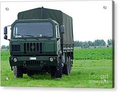 The Iveco M250 8 Ton Truck Acrylic Print by Luc De Jaeger