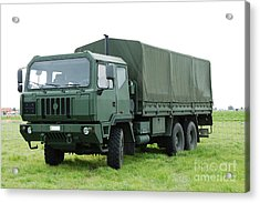 The Iveco M250 Used By The Belgian Army Acrylic Print by Luc De Jaeger