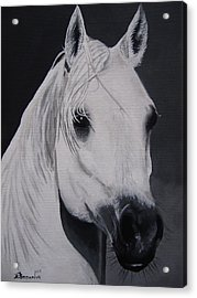 The Ivory Queen Acrylic Print by Kayleigh Semeniuk