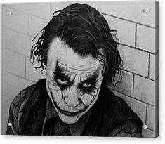 The Joker Acrylic Print by Carlos Velasquez Art