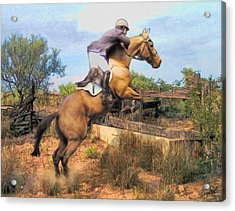 The Jumper Acrylic Print by Tom Schmidt