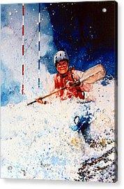 The Kayak Racer 20 Acrylic Print by Hanne Lore Koehler