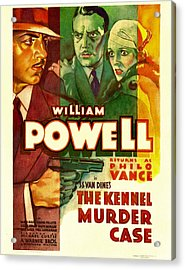 The Kennel Murder Case, William Powell Acrylic Print by Everett
