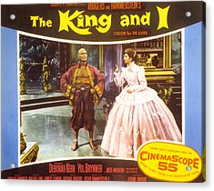 The King And I, Yul Brynner, Deborah Acrylic Print by Everett