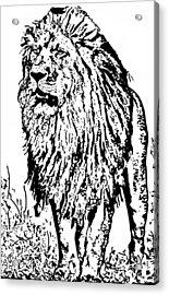The King Acrylic Print by Lori Jackson