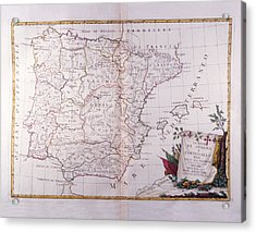 The Kingdom Of Spain And Portugal Divided Acrylic Print by Fototeca Storica Nazionale