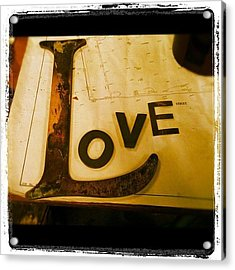 The l Word Acrylic Print