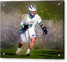 The Lacrosse Player Acrylic Print by Scott Melby