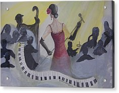 The Lady And Jazz Acrylic Print by Janna Columbus