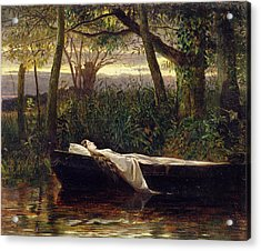 The Lady Of Shalott Acrylic Print by Walter Crane