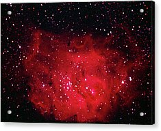 The Lagoon Nebula In Sagittarius Acrylic Print by A. V. Ley