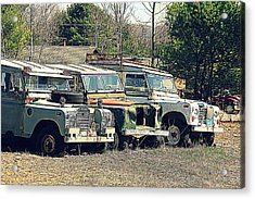 The Land Rover Graveyard Acrylic Print