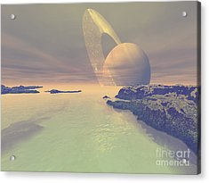 The Landscape Of Titan, One Of Saturns Acrylic Print