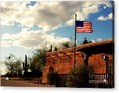 The Last Outpost Old Tuscon Arizona Acrylic Print by Susanne Van Hulst