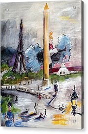 The Last Time I Saw Paris Acrylic Print by Ginette Callaway