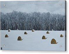 The Lazy Farmers' Field Acrylic Print by Holly Donohoe