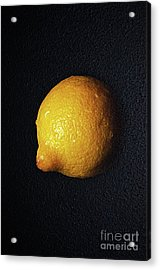 The Lazy Lemon Acrylic Print by Andee Design