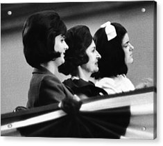 The Lbj Ladies At The 1964 National Acrylic Print by Everett