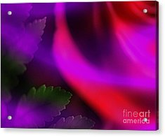 The Leaf And The Rose Acrylic Print by Judi Bagwell