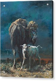 The Legend Begins Acrylic Print by Mia DeLode