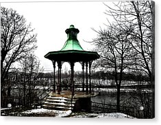 The Lemon Hill Gazebo - Philadelphia Acrylic Print by Bill Cannon