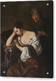 The Letter Acrylic Print by Sir Peter Lely