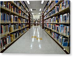 The Library Acrylic Print by Ku Azhar Ku Saud