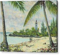 The Lighthouse - Zanzibar Acrylic Print by Tilly Willis