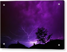 The Lightning Spread Acrylic Print by Lisa  Spencer