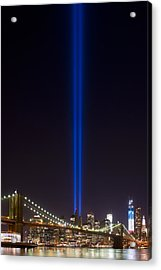 The Lights - 9-11 Tribute Acrylic Print by Shane Psaltis