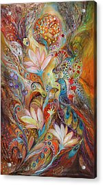 The Lilies And Bell Flowers Acrylic Print by Elena Kotliarker
