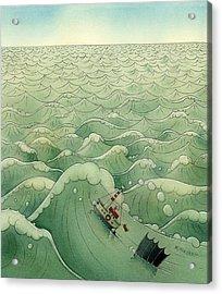 The Little Boat 02 Acrylic Print by Kestutis Kasparavicius