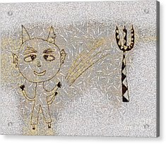 The Little Devil Acrylic Print by Odon Czintos