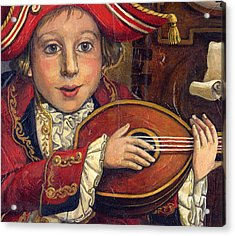 The Little Mozart.detail. Acrylic Print by Victoria Francisco