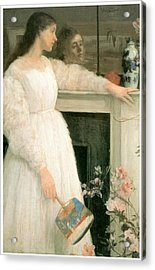 The Little White Girl Acrylic Print by James Abbott McNeill Whistler