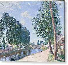 The Loing Canal At Moiret Acrylic Print by Alfred Sisley