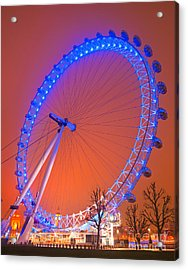 Acrylic Print featuring the photograph The London Eye by Luciano Mortula