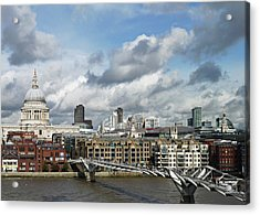 The London Skyline Towards St Paul's Cathedral Acrylic Print by Eyespy