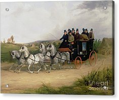 The London To Brighton Stage Coach Acrylic Print by William Joseph Shayer