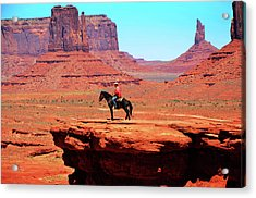 The Lone Indian Acrylic Print