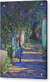 Acrylic Print featuring the painting The Lonely Road by Li Newton