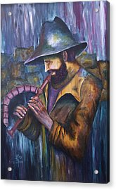 The Lonely Shepherd Acrylic Print by Itzhak Richter