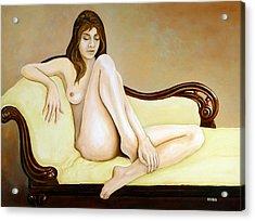 The Long Pose Acrylic Print by Tom Morgan