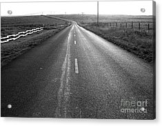 The Long Road Home . 7d9903 . Black And White Acrylic Print by Wingsdomain Art and Photography