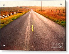 The Long Road Home . Painterly Style Acrylic Print by Wingsdomain Art and Photography