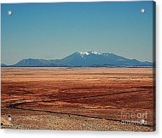 The Long Road To The Meteor Crater In Az Acrylic Print by Susanne Van Hulst