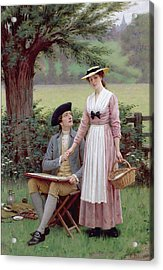 The Lord Of Burleigh Acrylic Print by Edmund Blair Leighton
