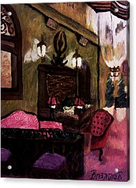Acrylic Print featuring the painting The Lounge by Christy Saunders Church