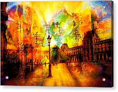 The Louvre Acrylic Print by Carrie OBrien Sibley